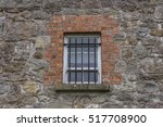 an old style window with black... | Shutterstock . vector #517708900