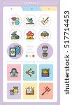 icon set character vector  | Shutterstock .eps vector #517714453