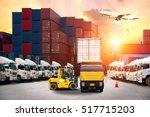 industrial container cargo...   Shutterstock . vector #517715203