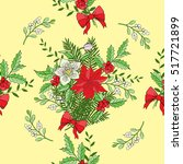 seamless pattern with christmas ... | Shutterstock .eps vector #517721899