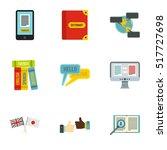 translation icons set. flat...   Shutterstock .eps vector #517727698