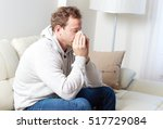 sick man with cold | Shutterstock . vector #517729084