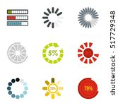 loading and waiting icons set.... | Shutterstock .eps vector #517729348