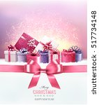 holiday christmas background... | Shutterstock .eps vector #517734148