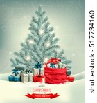 holiday christmas background... | Shutterstock .eps vector #517734160
