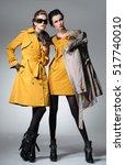 full length fashion two model... | Shutterstock . vector #517740010