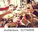 family together christmas... | Shutterstock . vector #517744939