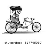 indian rickshaw cycle   vector... | Shutterstock .eps vector #517745080