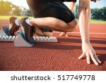 male athlete on starting... | Shutterstock . vector #517749778
