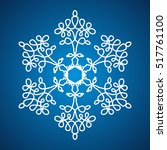 ornamented snowflake on the...   Shutterstock .eps vector #517761100