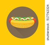 hotdog with mayonnaise and... | Shutterstock .eps vector #517762324