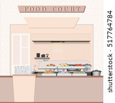 food court with food in a... | Shutterstock .eps vector #517764784