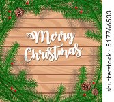 christmas tree borders ... | Shutterstock .eps vector #517766533