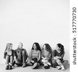 girls friendship togetherness... | Shutterstock . vector #517770730