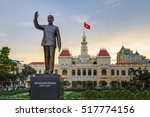 Ho Chi Minh Statue In Front Of...