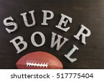 game day football party table. | Shutterstock . vector #517775404
