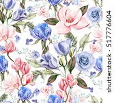 beautiful watercolor with... | Shutterstock . vector #517776604