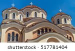 orthodox cathedral of shkodra ... | Shutterstock . vector #517781404