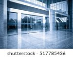 modern office building gate... | Shutterstock . vector #517785436