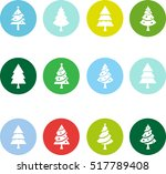 christmas tree flat icon | Shutterstock .eps vector #517789408