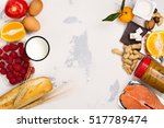 allergy food concept. food... | Shutterstock . vector #517789474