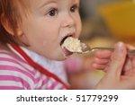 kid feeding | Shutterstock . vector #51779299