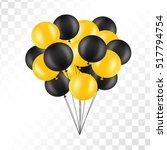 balloons on transparent... | Shutterstock .eps vector #517794754