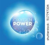 blue material bubbling oxygen... | Shutterstock .eps vector #517797334