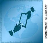 vector icon smartphone... | Shutterstock .eps vector #517806529