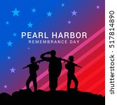 pearl harbor remembrance day... | Shutterstock .eps vector #517814890