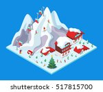 isometric ski resort with hotel ...   Shutterstock .eps vector #517815700