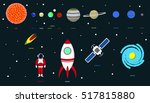 planets and universe   info... | Shutterstock .eps vector #517815880