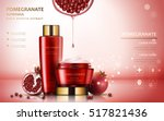 pomegranate cream ads ... | Shutterstock .eps vector #517821436