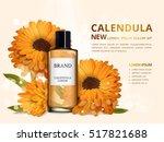 calendula skin toner ads  3d... | Shutterstock .eps vector #517821688