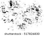 abstract black sponge stains... | Shutterstock .eps vector #517826830