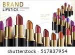 colorful lipsticks placed in... | Shutterstock .eps vector #517837954