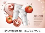tomato cream cleanser contained ... | Shutterstock .eps vector #517837978