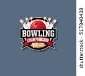 bowling championship emblem.... | Shutterstock .eps vector #517840438