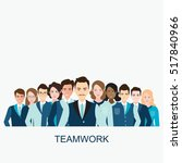 business people isolated on... | Shutterstock .eps vector #517840966