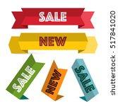 paper labels set. retro sale...   Shutterstock .eps vector #517841020