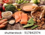balanced diet food concept | Shutterstock . vector #517842574