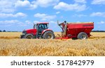 tractor with a tank for... | Shutterstock . vector #517842979