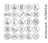 vector linear icons set of... | Shutterstock .eps vector #517846510