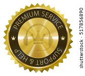 premium service support and... | Shutterstock .eps vector #517856890