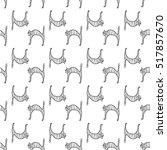 seamless pattern with doodle... | Shutterstock .eps vector #517857670