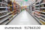 blurred of supermarket | Shutterstock . vector #517863130