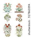 set design elements of plants... | Shutterstock .eps vector #517863394