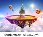 beautiful decorated christmas... | Shutterstock . vector #517867894