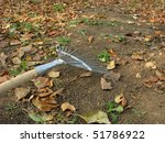 gardening. rake remove fallen... | Shutterstock . vector #51786922