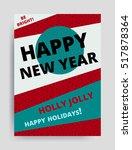 merry christmas new year design ... | Shutterstock .eps vector #517878364